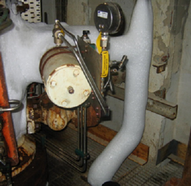 Figure 1. Iced up gas lift lines