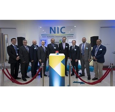 Mihalis (second left) at the opening of the Non-Metallic Innovation Centre