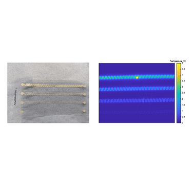 Figure 2.  Scratched VTT sample and amplitude image