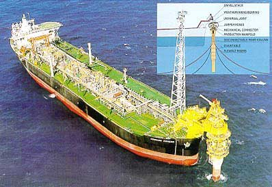 Floating production, storage and offloading (FPSO) disconnectable turret (Courtesy Single Buoy Moorings Inc.)