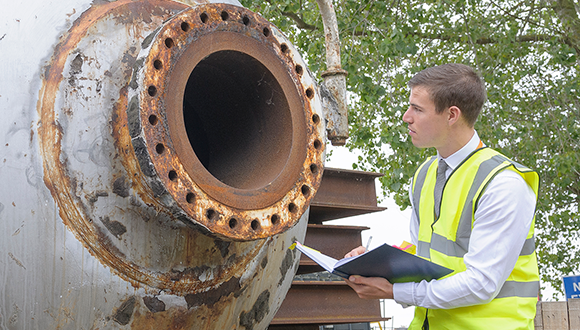 Warren during his MSc programme in Structural Integrity with NSIRC and Brunel University London. Photo: TWI Ltd