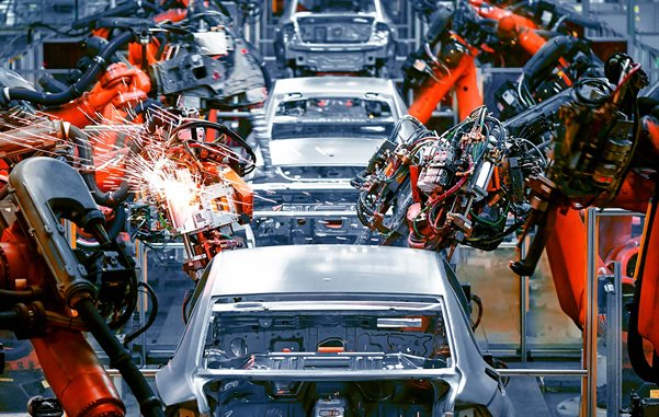 Car production line - Spot welding