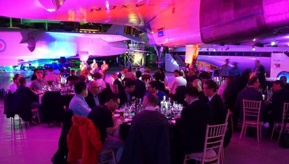 Attendees were also treated to dinner under the wing of Concorde at the Imperial War Museum, Duxford