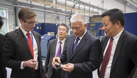 Mr Wang Zhigang on a friction welding tour with Anthony McAndrew and Steve Shi