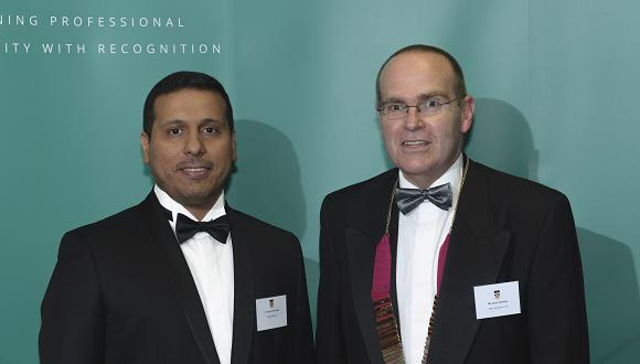 Tariq Al Ghamdi (left) with Welding Institute President, Dave Holmes