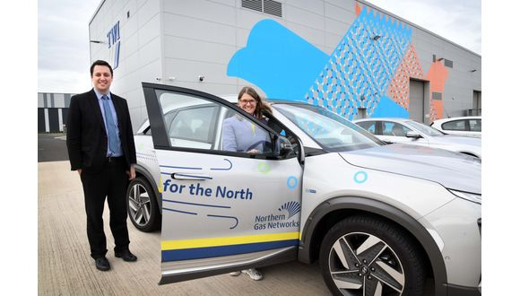 Mayor of Tees Valley, Ben Houchen, and Government Transport Minister Rachel Maclean
