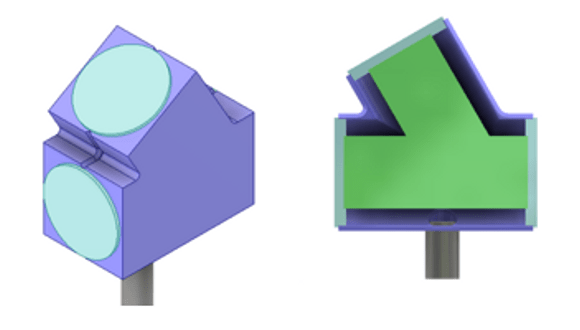 Figure 5. 3D CAD drawing of the designed capsule
