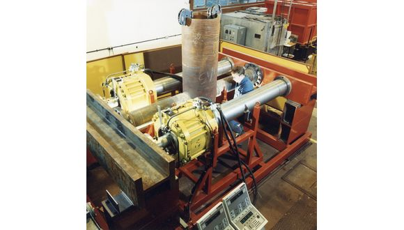 Test rig designed by Phil to carry out fatigue testing on a biaxial tubular joint