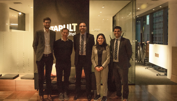 Left to right: Nick Wright, Head of Manufacturing Industries, Digital Catapult, Jeremy Silver, CEO, Digital Catapult, Aamir Khalid, Chief Executive, TWI, Geraldina Iraheta, Director of Business Development, Digital Catapult and Abbas Mohimi, Heading Public Funding, TWI.