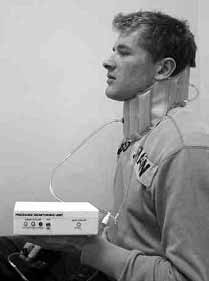 Fig.9. Prototype neck brace undergoing testing (Courtesy of RNHRD)