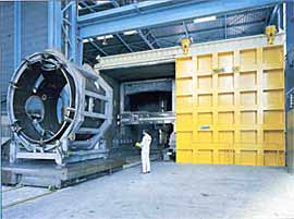 Fig.2. 230m 3 volume high vacuum, EB welding chamber typical evacuation time ~3hrs (Courtesy of CNIM)