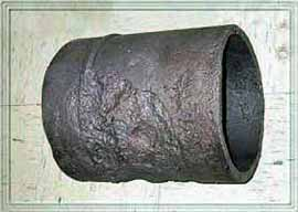 Fig.8. Corroded section of pipeline following detection by LRUT