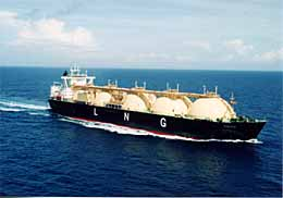 Galea, managed by Shell International Trading and Shipping Co Ltd (STASCO), utilises the Moss containment system and has capacity of 135 000m3 Image courtesy of Shell