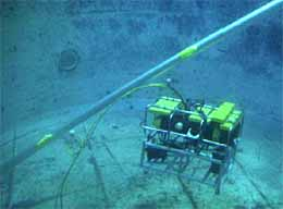 Fig.5. ROV Deployment of NDT