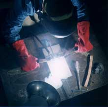 Fig.1 Principle of Moving Contact Arc Welding