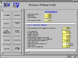 Figure 5. Image of the economics module