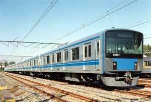 Fig.3. Commuter EMU Series 20000 for Seibu Railways built by Hitachi containing FSW full length welds of double skin side and roof panels
