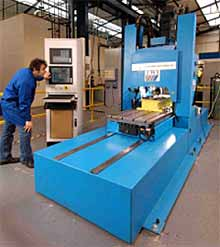 Fig.3. Photograph of the precision FSW machine that was used to perform all of the 20mm thick welds in this study