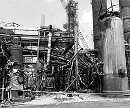 Fig.1. The amine unit after the fire
