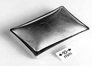 Fig.6. Typical Au-plated stepped lid package showing failure through Ni-Fe-Co alloy lid during pressure testing