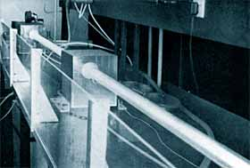 Fig.1. An early commercial version of the SERL slow flow laser, manufactured by Ferranti