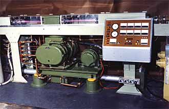 Fig.7. Prototype 2kW fast axial flow laser manufactured at TWI. Circa 1970