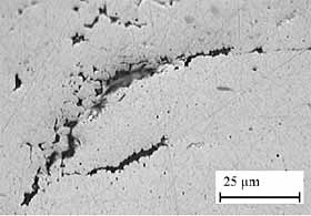 Fig.17. Evidence of partial melting on retreating side of nugget in FSW of 6 mm thick AA7050-T7451 alloy[164]