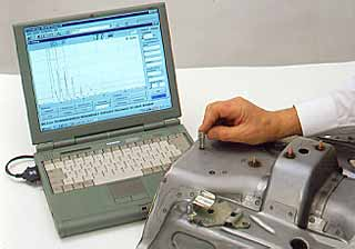 Fig.5. PC based ultrasonic testing equipment Courtesy AGFA NDT