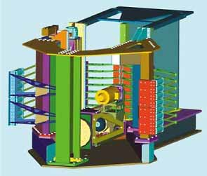 Fig.23. GTC's concept design for a large vertical tank welding machine