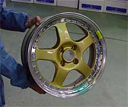Fig.6. ... and assembled to an aftermarket three-piece wheel for tuning sport cars