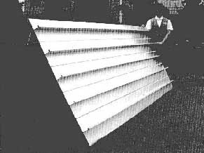 Fig. 9. Large aluminium ship panel made from 5083-H112 aluminium alloy extrusions, made by Sumitomo Light Metal [27]