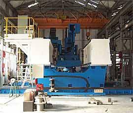 Fig.10. Crawford Swift high-force FSW machine for TWI Technology Centre (Yorkshire) to weld up to 150mm thick aluminium plates and billets