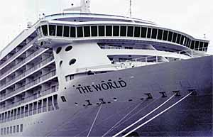 Fig.2. Fosen Mek's cruise ship 'The World' contains friction stir welded decks