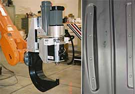 Fig.12. CNC controlled FSSW gun on an articulated arm robot ( Courtesy Friction Stir Link)