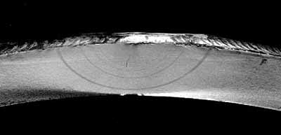 Fig.1. Beachmarks on the fracture surface of specimen T1-3