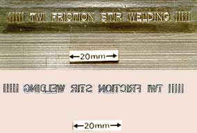 Fig.14 Friction stir welding - self embossing.