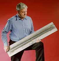 Fig.5. One metre long 12mm thick 12% chromium alloy steel, double sided, test weld
