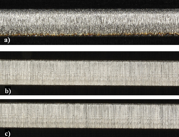 Figure 4 Edge sections for 3mm material