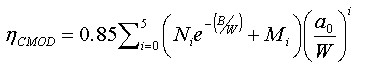 Comparison of J Equations for SENT Specimens - Equation 3