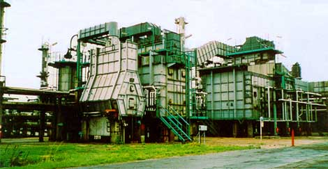Furnace heater buildings forming part of a 1960s oil refinery - sold following a successful assessment