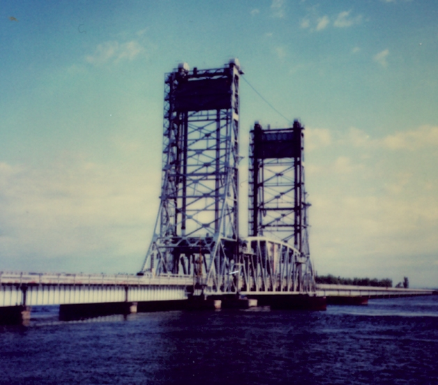 Valleyfield lift bridge, Canada.