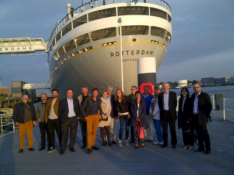 CleanShip consortium with the SS Rotterdam, Holland.
