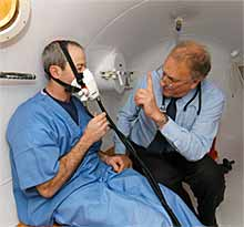 Decompression chamber at TWI North provides local services