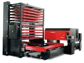 Amada LCV laser cutting machine with autostorage and pallet changer system Courtesy of Amada UK Ltd