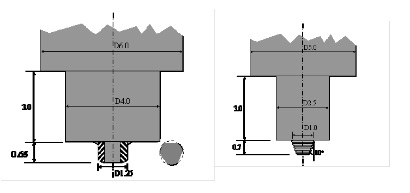 Figure 3: Examples of tool designs for MFSW