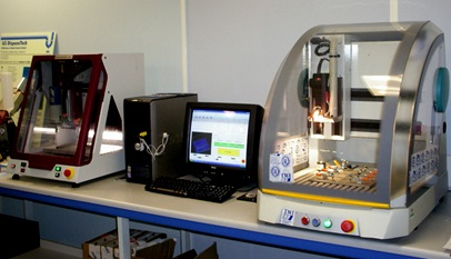 Figure 4: µSFW machines at TWI adapted from CNC micro-milling machines
