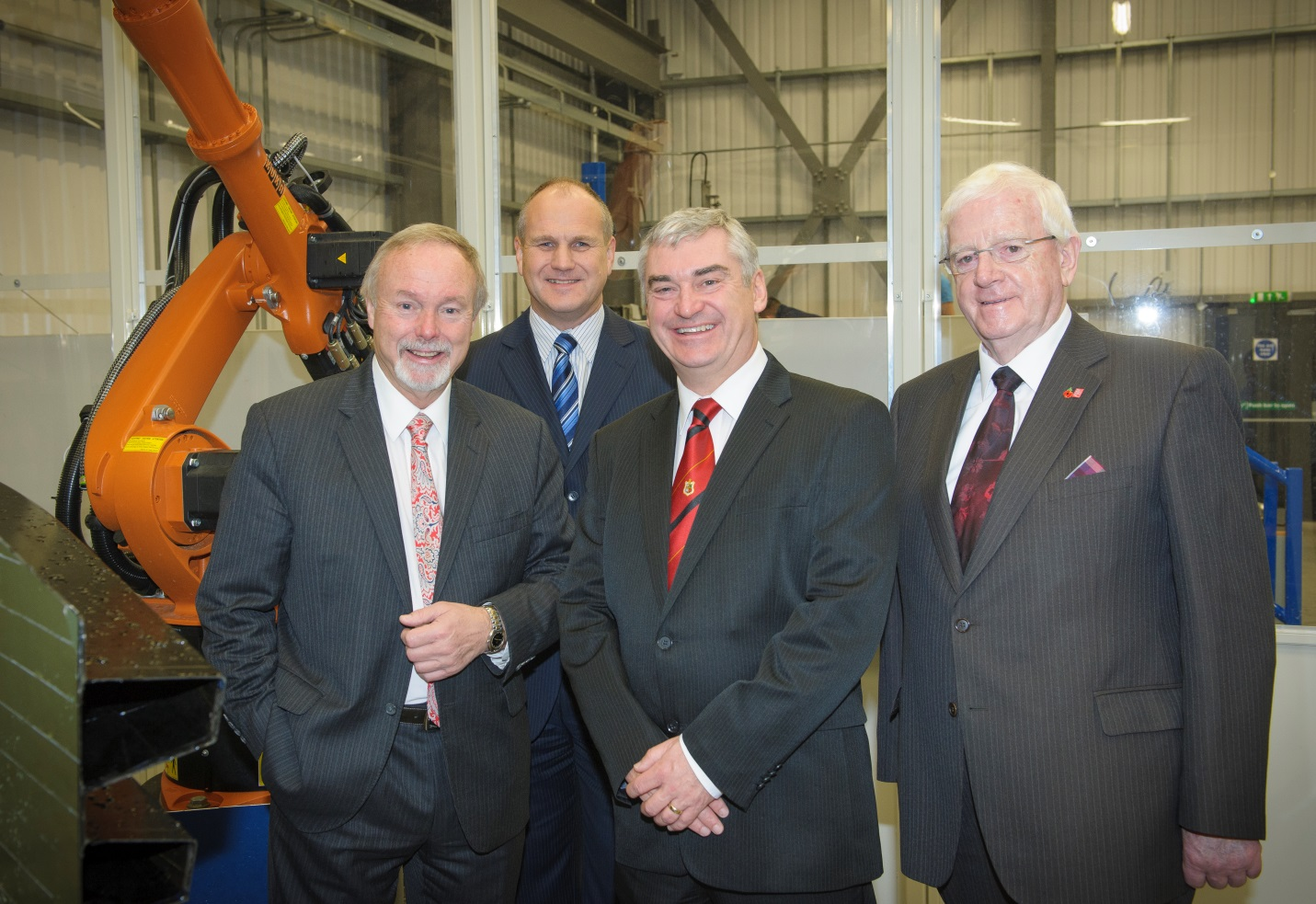 Entrepreneur Sir Terry Matthews tours TWI Technology Centre (Wales) with Swansea Bay City Region Board