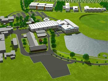 Artist's impression of the new Engineering Hall and Administration Building