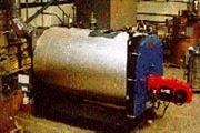 Horizontal boiler for export, pre-assembled and tested in Fulton's Bristol factory