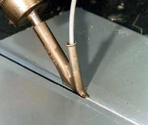 Fig.3. Hot gas speed welding